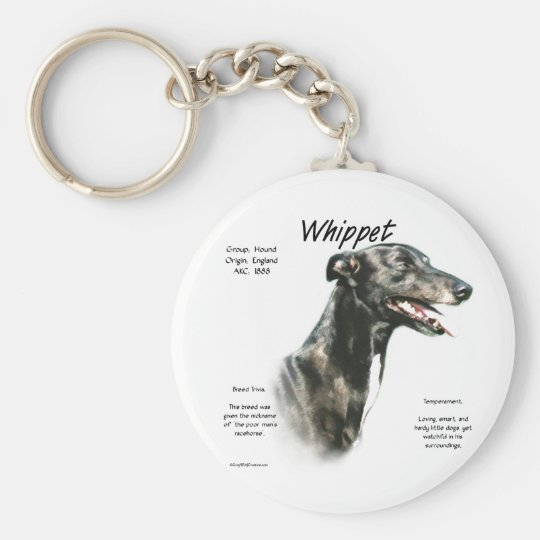 Whippet History Design Keychain