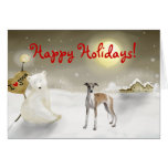 Whippet Holiday Card