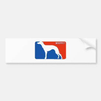Whippet Major League Dog Bumper Sticker Car Bumper Sticker