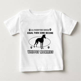 whippet Mommy Design Baby T-Shirt