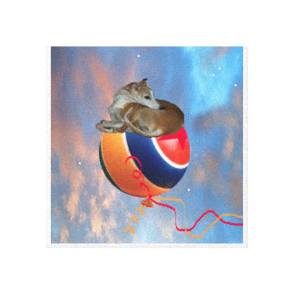 Whippet on a Wayward balloon-Wrapped Canvas