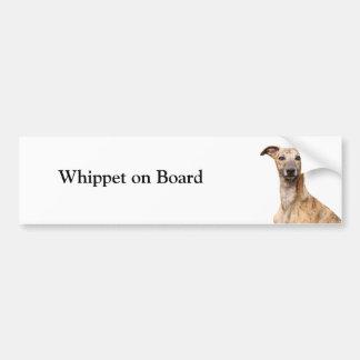 Whippet on board custom bumper sticker