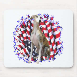 Whippet Patriot Mouse Pad