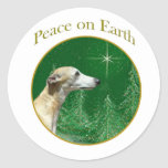 Whippet Peace Sticker