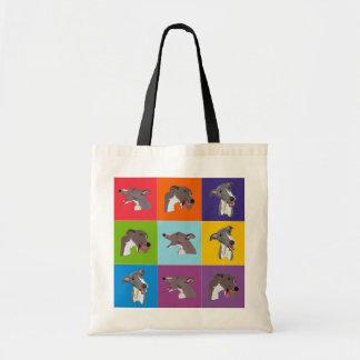 Whippet Pop Art Montage Shopping bag