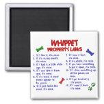 WHIPPET Property Laws 2 Fridge Magnet