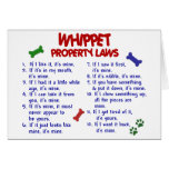 WHIPPET Property Laws 2 Greeting Card