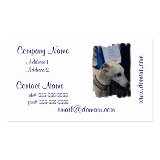 Whippet Puppy Business Cards