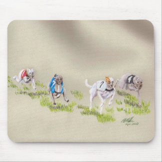 Whippet racing mouse pad