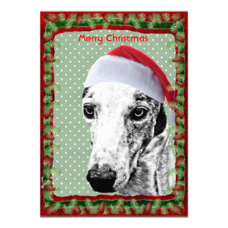 Whippet Santa Dog Personalized Announcements