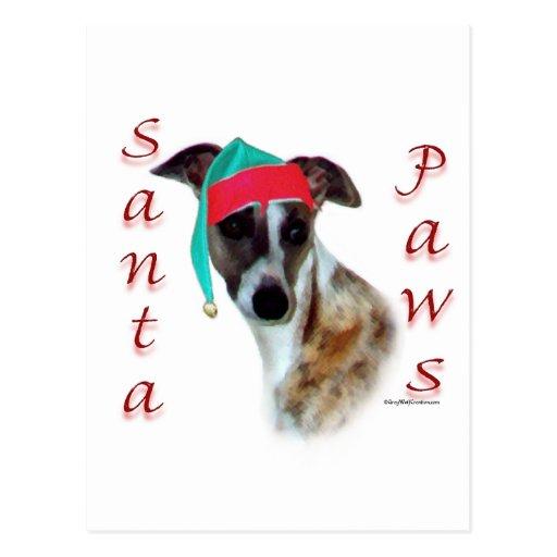 Whippet Santa Paws Postcards
