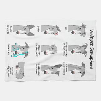 Whippet Semaphore Kitchen Towel