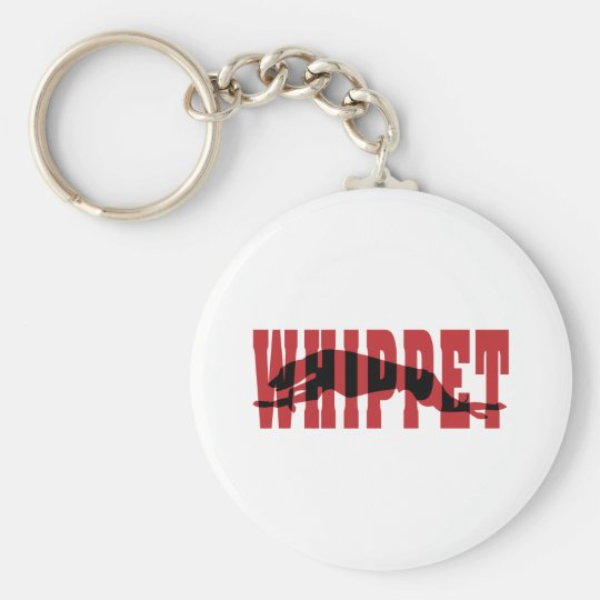 Whippet silhouette keychain
