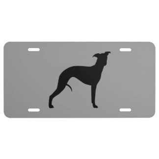 Whippet Silhouette License Plate