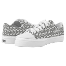 Whippet Silhouettes Pattern Low-Top Sneakers
