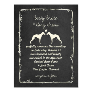 Whippet Silhouettes Wedding Announcement