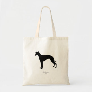 Whippet Tote Bag (black silhouette)