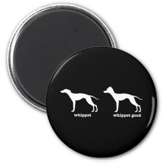 Whippet, Whippet Good Funny Dog Breed 2 Inch Round Magnet