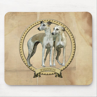 Whippets couples mouse pad