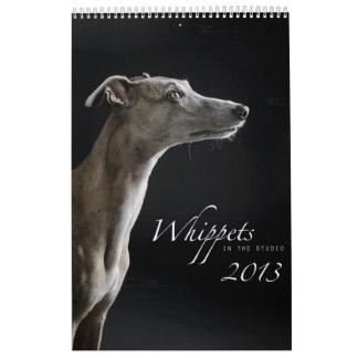 Whippets en el estudio 2013 calendario