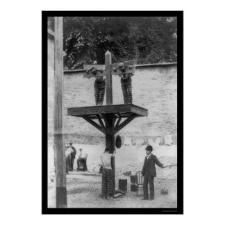 Whipping Post in Delaware 1907 Print