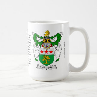 Whipple, the Origin, the Meaning and the Crest Coffee Mug