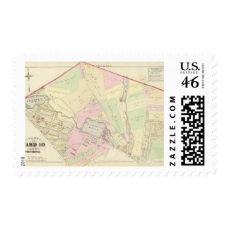 Whipple's Pond Geneva Mills Wanskuck Mil Atlas Map Postage