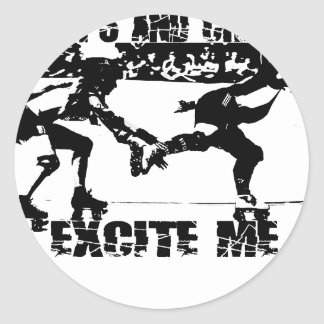 whips and chains excite me classic round sticker