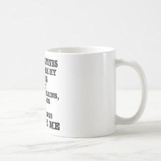 Whips Chains Tattoos & Piercings Excite Me Classic White Coffee Mug