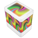 Whirl shapes pattern igloo can cooler
