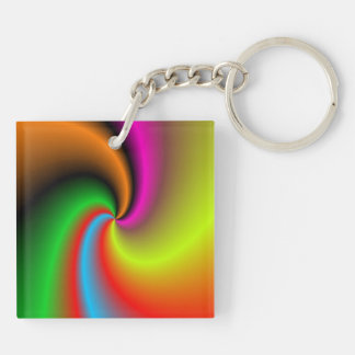 Whirl shapes pattern keychain