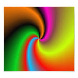 Whirl shapes pattern photo print