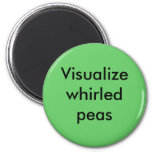 Whirled peas 2 inch round magnet