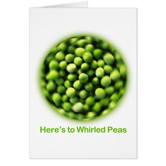 Whirled Peas - Comic T shirt Card