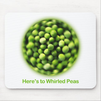 Whirled Peas - Comic T shirt Mouse Pad