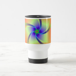 Whirligig in Red and Yellow Travel Mug
