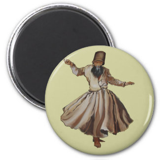 Whirling Dervish 2 Inch Round Magnet