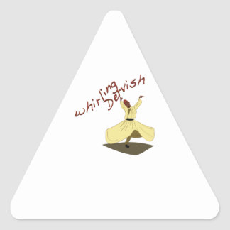 Whirling Dervish Triangle Sticker
