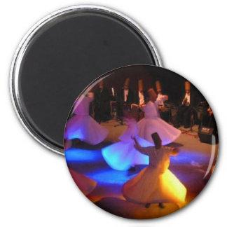Whirling-Dervishes-Ceremony-Cappadocia-turkish-nig 2 Inch Round Magnet
