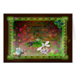 whirling leaves greeting card
