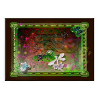 whirling leaves poster