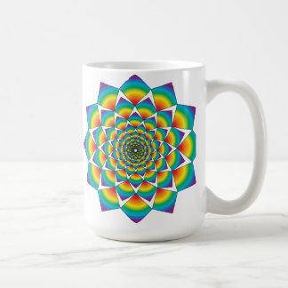 WHIRLING SQUARES CLASSIC WHITE COFFEE MUG