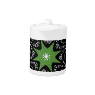 Whirling stars background teapot