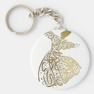 Whirling Sufi Dervish Keychain