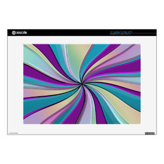 """Whirling Waves of Rainbow Rays Skin 15"""" Laptop Skins"""