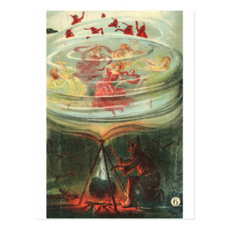 whirling witches postcard
