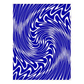 Whirlpool- Blue Postcard