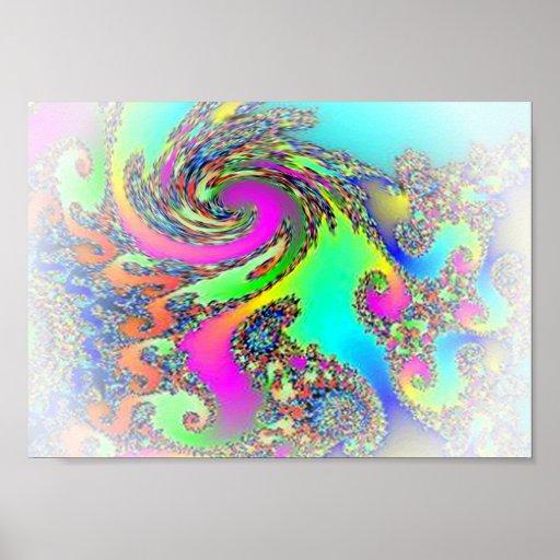 Whirlpool de ilusiones de descoloramiento poster