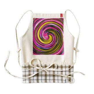 Whirlpool de la pintura delantal zazzle HEART