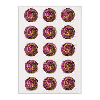 Whirlpool de la pintura láminas de azúcar para galletas